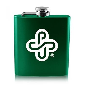 Portland State University -6 oz. Color Stainless Steel Flask-Green