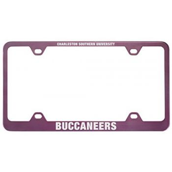 Charleston Southern University -Metal License Plate Frame-Pink