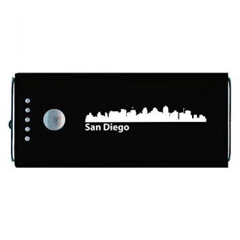 San Diego, California-Portable Cell Phone 5200 mAh Power Bank Charger-Black