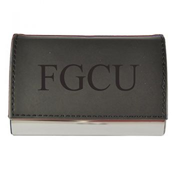 Velour Business Cardholder-Florida Gulf Coast University-Black