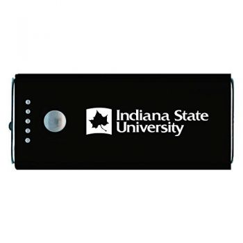 Indiana State University -Portable Cell Phone 5200 mAh Power Bank Charger -Black