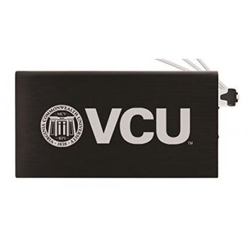 8000 mAh Portable Cell Phone Charger-Virginia Commonwealth University-Black