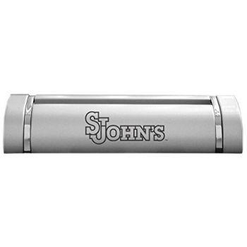 St. John's University-Desk Business Card Holder -Silver