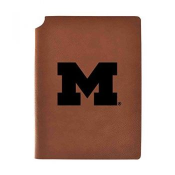 University of Michigan Velour Journal with Pen Holder|Carbon Etched|Officially Licensed Collegiate Journal|