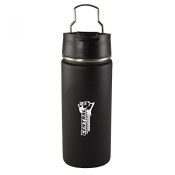 Central Connecticut University-20 oz. Travel Tumbler-Black