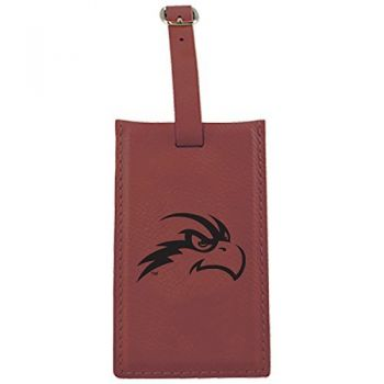 University of North Florida-Leatherette Luggage Tag-Burgundy