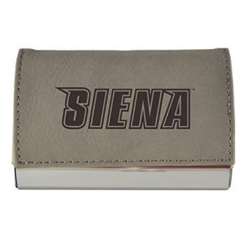 Velour Business Cardholder-Siena College-Grey