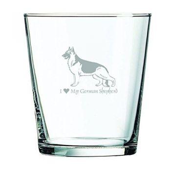 13 oz Cocktail Glass  - I Love My German Shepard