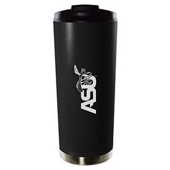 Alabama State University-16oz. Stainless Steel Vacuum Insulated Travel Mug Tumbler-Black