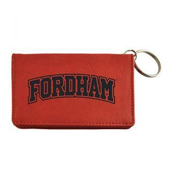 Velour ID Holder-Fordham University-Burgundy