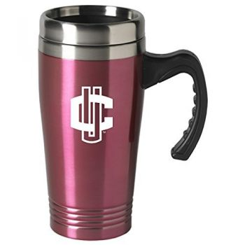 University of Connecticut-16 oz. Stainless Steel Mug-Pink