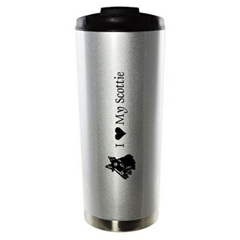 16 oz Vacuum Insulated Tumbler with Lid  - I Love My Scottish Terrier