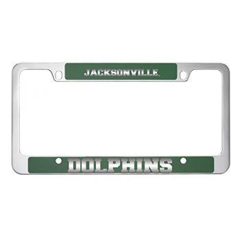 Jacksonville University -Metal License Plate Frame-Green