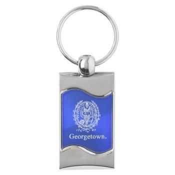 Georgetown University - Wave Key Tag - Blue