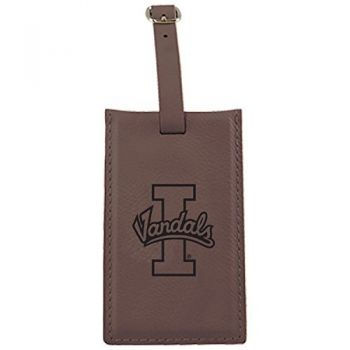 University of Idaho -Leatherette Luggage Tag-Brown
