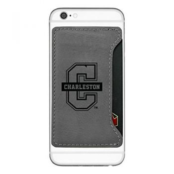 College of Charleston-Cell Phone Card Holder-Grey