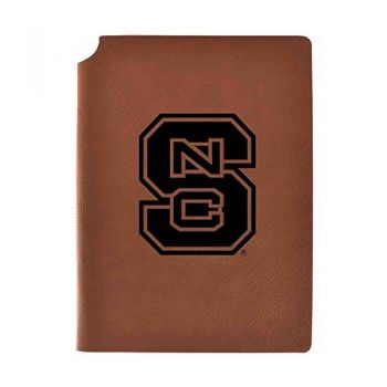 North Carolina State University Velour Journal with Pen Holder|Carbon Etched|Officially Licensed Collegiate Journal|