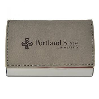Velour Business Cardholder-Portland State University-Grey