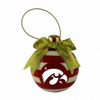University of Iowa-Christmas Bulb Ornament