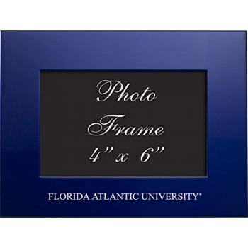 Florida Atlantic University - 4x6 Brushed Metal Picture Frame - Blue