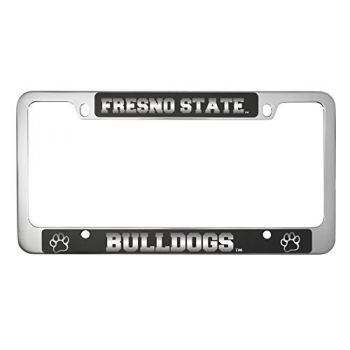 Fresno State -Metal License Plate Frame-Black