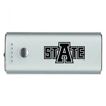 Arkansas State University -Portable Cell Phone 5200 mAh Power Bank Charger -Silver