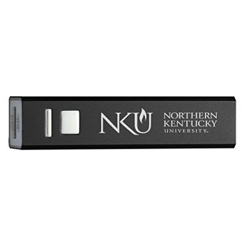Northern Kentucky University - Portable Cell Phone 2600 mAh Power Bank Charger - Black