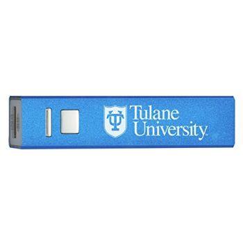 Tulane University - Portable Cell Phone 2600 mAh Power Bank Charger - Blue