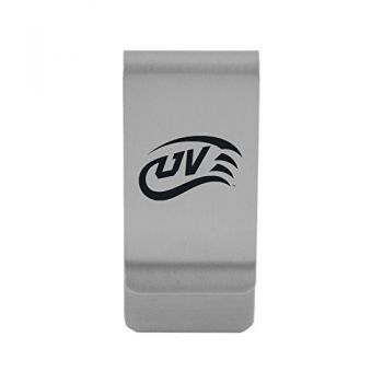 Utah Valley University|Money Clip with Contemporary Metals Finish|Solid Brass|High Tension Clip to Securely Hold Cash, Cards and ID's|Gold