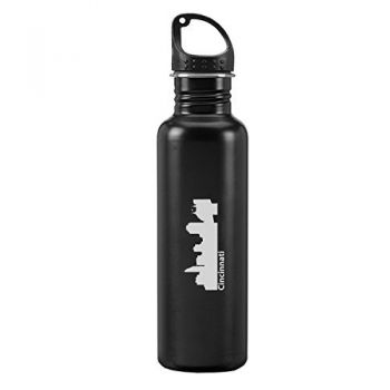 24 oz Reusable Water Bottle - Cincinnati City Skyline