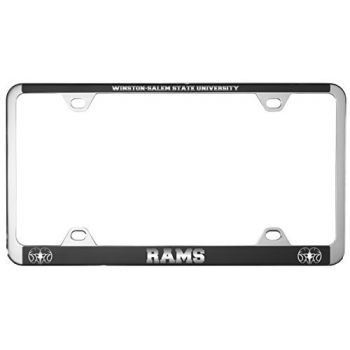 Winston-Salem State University -Metal License Plate Frame-Black
