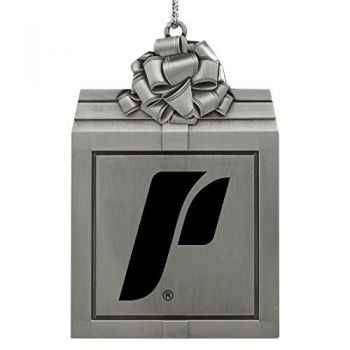 The University of Portland-Pewter Christmas Holiday Present Ornament-Silver