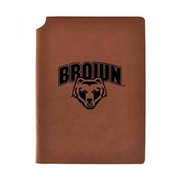 Brown University Velour Journal with Pen Holder|Carbon Etched|Officially Licensed Collegiate Journal|