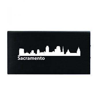 Quick Charge Portable Power Bank 8000 mAh - Sacramento City Skyline
