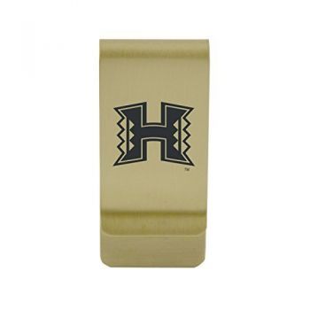 Harvard University |Money Clip with Contemporary Metals Finish|Solid Brass|High Tension Clip to Securely Hold Cash, Cards and ID's|Silver