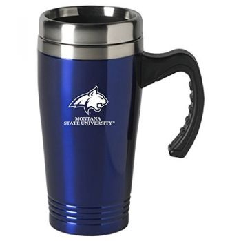 Montana State University-16 oz. Stainless Steel Mug-Blue