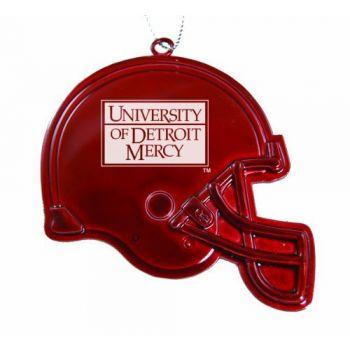University of Detroit Mercy - Christmas Holiday Football Helmet Ornament - Red
