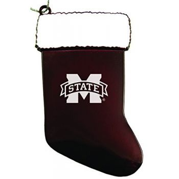 Mississippi State University - Chirstmas Holiday Stocking Ornament - Burgundy