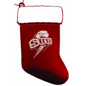 Southern Utah University - Chirstmas Holiday Stocking Ornament - Red