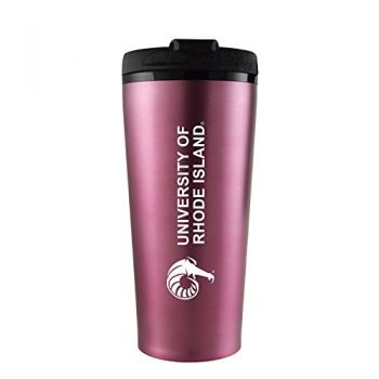 The University of Rhode Island -16 oz. Travel Mug Tumbler-Pink