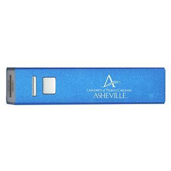 University of North Carolina at Asheville - Portable Cell Phone 2600 mAh Power Bank Charger - Blue