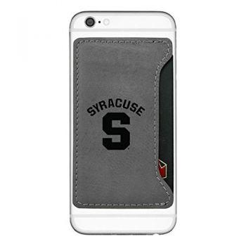 Syracuse University-Cell Phone Card Holder-Grey