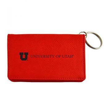 Velour ID Holder-University of Utah-Red