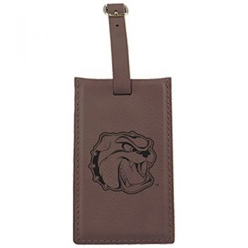 University of North Carolina at Asheville-Leatherette Luggage Tag-Brown