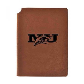 Niagara University Velour Journal with Pen Holder|Carbon Etched|Officially Licensed Collegiate Journal|
