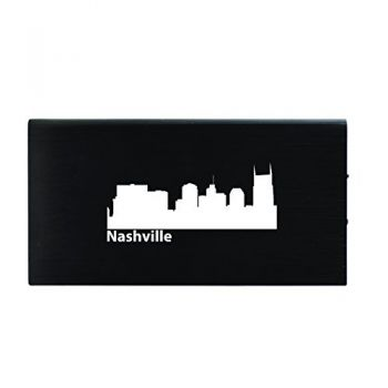Nashville, Tennessee-8000 mAh Portable Cell Phone Charger-Black