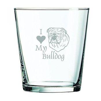 13 oz Cocktail Glass  - I Love My Bull Dog