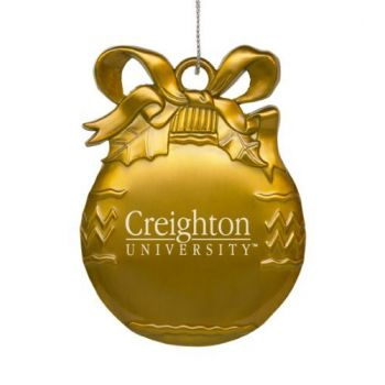 Creighton University - Pewter Christmas Tree Ornament - Gold