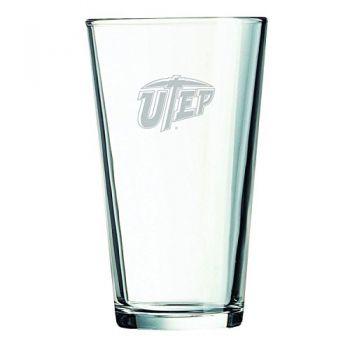 The University of Texas at El Paso -16 oz. Pint Glass