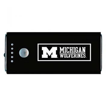 University of Michigan -Portable Cell Phone 5200 mAh Power Bank Charger -Black